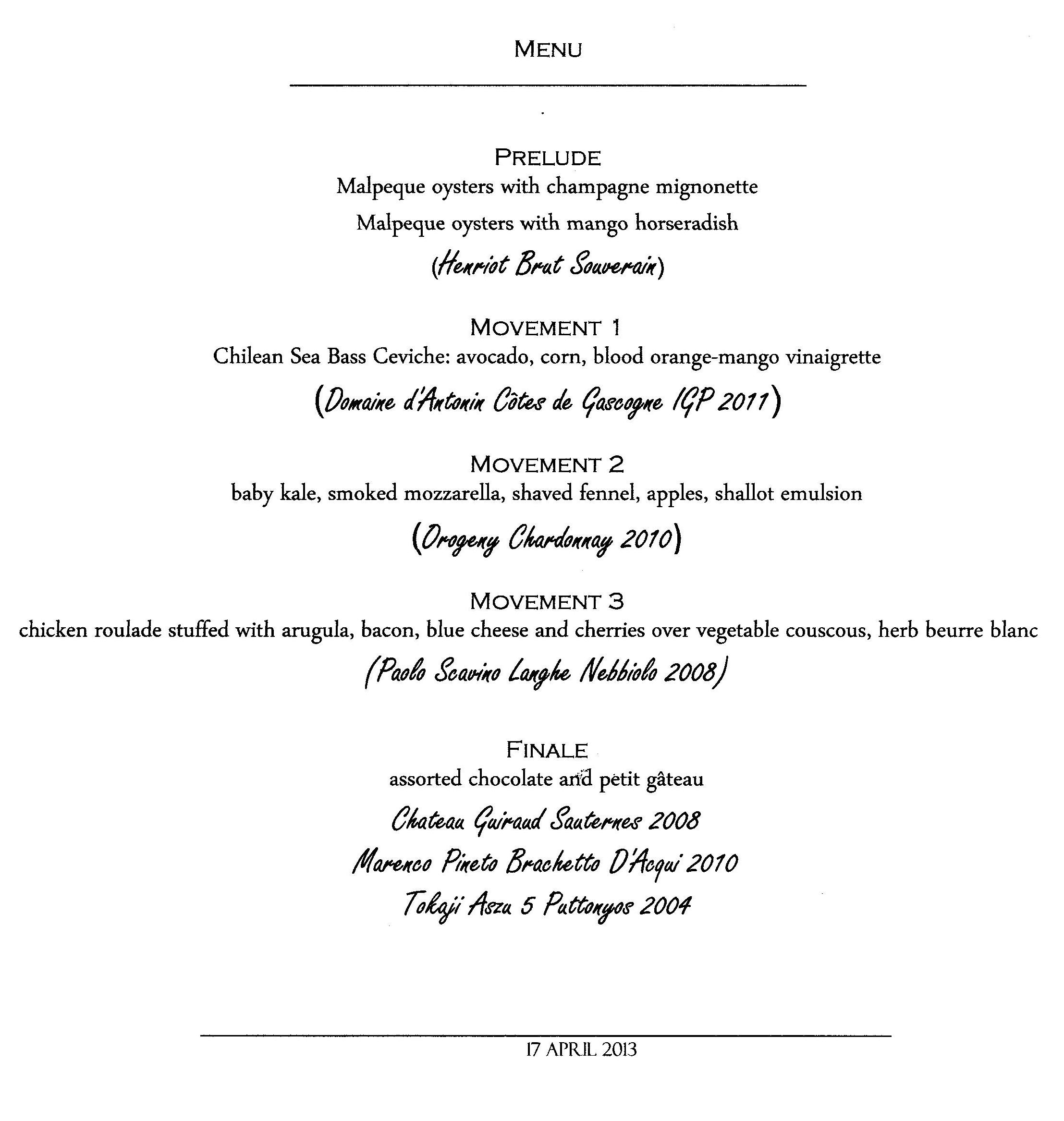 dinner party list